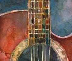 Acoustic Ovation Guitar Fine Art Print - Applause - Red body - Fine Art Print - 8.5 x 11. $23.00, via Etsy.