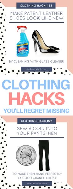 Some brilliant fashion hacks I've never heard of before! Clothing tips & tricks to get rid of stains, wrinkles, life hacks every girl should know