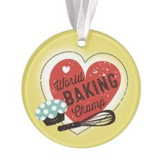 #Custom color baking champ Christmas ornament - #Xmas #ChristmasEve Christmas Eve #Christmas #merry #xmas #family #holy #kids #gifts #holidays #Santa