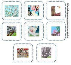 Δραστηριότητες, παιδαγωγικό και εποπτικό υλικό για το Νηπιαγωγείο: Η αμυγδαλιά σε έργα ζωγραφικής: Φύλλο Εργασίας για τις Τέχνες Gallery Wall, Frame, Blog, Crafts, Decor, Kindergarten, Winter, Kids, Picture Frame