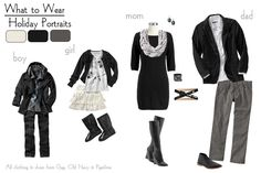 What to wear for Holiday Portraits-Black and White<br> Christmas Pictures Outfits, Winter Family Pictures, Family Pictures What To Wear, Family Pics, Holiday Pictures, Family Posing, Christmas Photos, Family Portraits What To Wear, Family Portrait Outfits