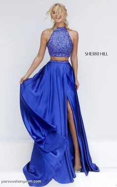 Prom dresses, celebrity dresses, sexy evening gowns: long high neck two piece sherri hill prom dress Prom Dresses 2016, Sherri Hill Prom Dresses, Prom Dress Stores, Cute Prom Dresses, Dance Dresses, Ball Dresses, Evening Dresses, Formal Dresses, Prom Gowns