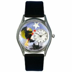 Whimsical Watches Women's S1220009 Halloween Flying Witch Black Leather Watch Whimsical Watches. $43.43