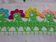 Orilla o Puntilla Tejida Flores de Colores - YouTube