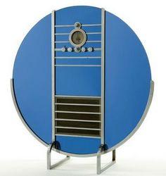 a 1935 blue mirror and chrome Nocturne radio designed by the Machine Age master Walter Dorwin Teague. Bauhaus, Art Nouveau, Radio Design, Art Deco Furniture, Nice Furniture, Vintage House Plans, Streamline Moderne, Antique Radio, Machine Age
