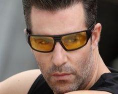 Štýlové polarizované okuliare na jazdu v noci, v daždi a v hmle3 Mens Sunglasses, Men's Sunglasses