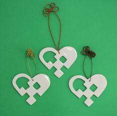 Christmas Hearts, Christmas Carol, Christmas Ornaments, Advent, Scandinavian Christmas, Xmas Decorations, Clay, Pottery, Papercutting