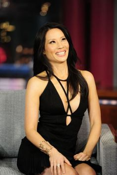Lucy Liu is not know for her legs