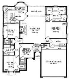 3 Bed Bungalow Floor Plans   Google Search