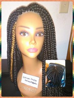 Braided Lace Wigs 100 Human Hair Lace Front Full Lace Braided Wigs for Women Big Box Braids, Front Braids, Braids Wig, 100 Human Hair, Human Hair Wigs, Human Braiding Hair, Diy Wig, Full Lace Front Wigs, Lace Braid