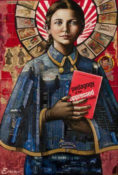 Blue Rain Gallery in Santa Fe New Mexico has Erin Currier original works. Catholic Saints, Patron Saints, Roman Catholic, St Gemma Galgani, Maria Goretti, Friend Of God, Virgin Mary Statue, Saints And Sinners, Religion
