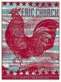 Eric Church Concert Poster Kamloops BC by subjectmatterstudio, $40.00