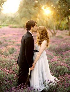 lavender-field-wedding-bride-groom - Once Wed