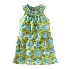 Tea Spring 2013 Floral Smock-Neck Mini Dress in shamrock - $35