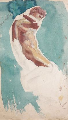 Rodin watercolor
