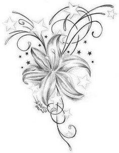 A nice flower tatoos on back