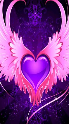 By Artist Unknown. Purple Wallpaper, Butterfly Wallpaper, Heart Wallpaper, Love Wallpaper, Cellphone Wallpaper, Iphone Wallpaper, Scrapbook Background, Heart Background, Beautiful Flowers Wallpapers