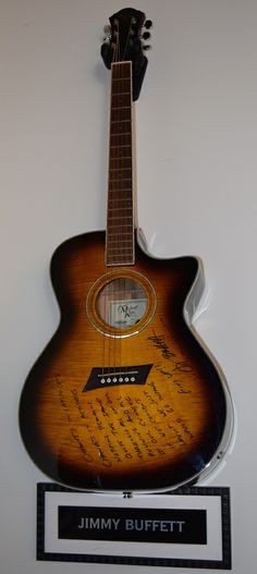 Jimmy Buffett – Signed guitar gtrBuffett265   Rock Star Gallery - Music Memorabilia, Signed Collectibles and Celebrity Fine Art