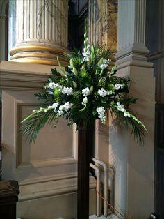 Church pedestal flower arrangement