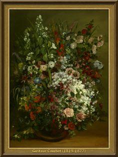 Gustave Courbet - Boeket van bloemen in een vaas (1862) [73,3cmx100,3cm - Getty Museum Los Angeles]