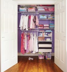Tired of having a messy bedroom closet? Transform it into an organized storage space with these organization ideas! #BedroomStorage #ClutterFreeHomes #ClosetOrganization