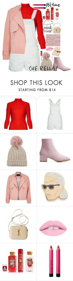 """""""🍦"""" by lseed87 ❤ liked on Polyvore featuring Mary Katrantzou, Topshop, Jocelyn, River Island, Georgia Perry, Yves Saint Laurent, Bobbi Brown Cosmetics, Lime Crime, Pink and pinkcoat"""