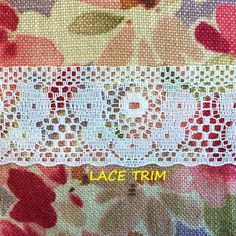 4 YARDS, WHITE, Insertion Lace Sewing Trim, Large Daisies, Straight Eyelet Edge, 1-7/16 Inch Wide, L269 by DartingDogCrafts on Etsy