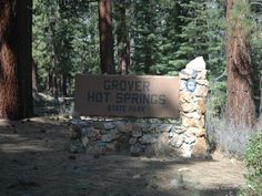 Grover Hot Springs State Park, a California park located nearby Gardnerville, South Lake Tahoe