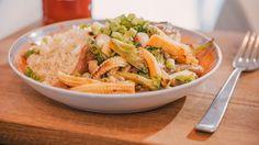 Quinoa met gebakken groentjes en oesterzwammen