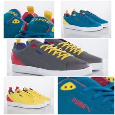 #PUMA x UNDFTD Future #Clyde Lite. Bright Yellow/Teaberry Red, Turkish Tile/Fluro Yellow and Steel Grey/Teaberry Red. Available from sneakersnstuff.com on Dec. 14th for $99 USD #shoes #sneakers #fashion