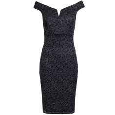 Grey Glitter Lace Bardot Midi Dress (710 EGP) ❤ liked on Polyvore featuring dresses, lacy dress, lace midi dress, glitter dress, midi dresses and glitter midi dress
