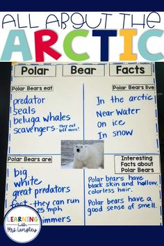 Learning ALL ABOUT the ARCTIC will be a student favorite in your kindergarten, first grade, or preschool classroom. Reading Lessons, Writing Lessons, Science Lessons, Science Experiments, Writing Prompts, Kindergarten First Day, Kindergarten Lesson Plans, Kindergarten Writing, Kindergarten Activities