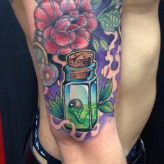 Potion tattoo By Juan David Castro R
