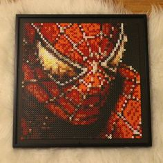 Spiderman perler beads by  nessiesbeads