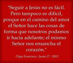 ¡Seguir a Jesús no es fácil! Leer más en: www.news.va/es/news/la-seguridad-cristiana-esta-en-el-todo-que-es-jesu