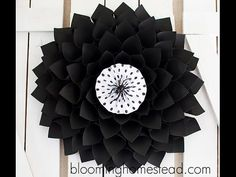 How to Make a Paper Wreath - YouTube