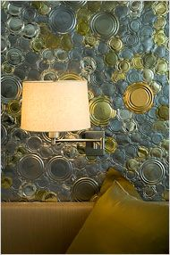 tin can lids get new life as wall decor