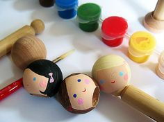 Clothespin doll tutorial--very sweet