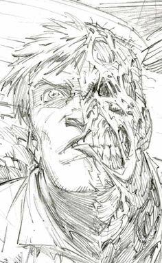 Greg Capullo Two Face sketch