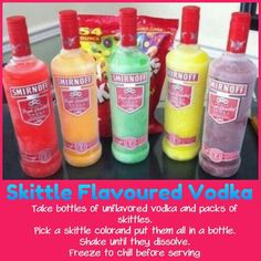 Skittle flavored vodka
