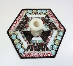 Christmas Quilted Table Runner Candle Mat or Mug by TheHotBobbin