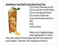 Source: Pinterest | #wittyvows #drinks #icetea #ice #tea #drinkrecipe #recipe #cocktails #diy #mocktails #mocktailrecipe #recipeideas #potd #trending Smirnoff, Bacardi, Sour Mix, Triple Sec, Highball Glass, Lemon Slice, Cocktails, Drinks, Iced Tea