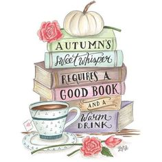 Autumn's whisper requires a good book and a warm drink. Tea And Books, I Love Books, Good Books, Reading Quotes, Book Quotes, Autumn Aesthetic, Hello Autumn, Happy Fall, Book Nerd