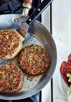 Delicioso! Hambúrguer de grão-de-bico e espinafre #vegan