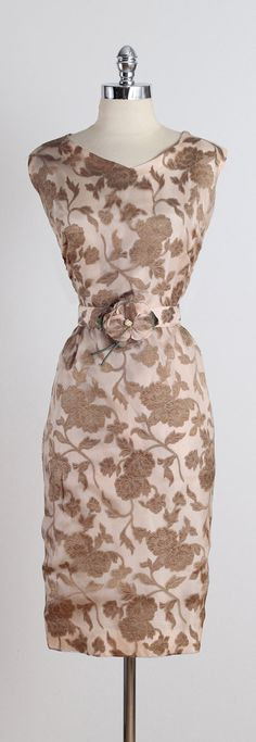 Rose Gold . vintage 1950s dress . 50s party by millstreetvintage