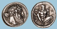 G746 A Rare Greek Silver Tetradrachm of Naxos (Sicily), Among the Finest Examples of the Severe Style of Early Classical Art | Flickr: Intercambio de fotos