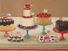 Still Life The Sweethearts Art Print by janethillstudio on Etsy, $26.00