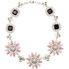 Miu Miu Crystal-Embellished Necklace (150520 DZD) ❤ liked on Polyvore featuring jewelry, necklaces, pink, pink necklace, miu miu necklace, miu miu, pink jewelry and miu miu jewelry