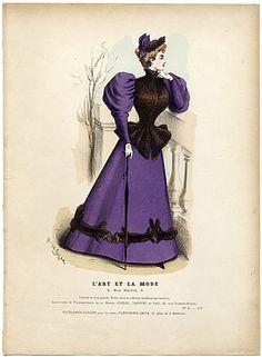 L'Art et la Mode 1893 N°45 Complete with colored engraving by Marie de Solar