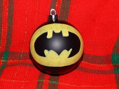 Hand Painted Batman Ornament by TwoCousinsArt on Etsy